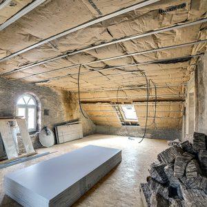 Isolation d'un plafond à la mairie de Longevelle 2