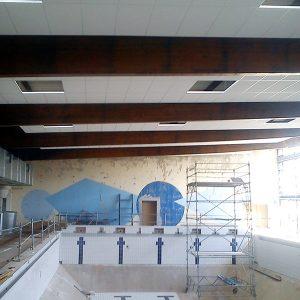 Réalisation de plafonds démontable à la piscine municipale de Lure