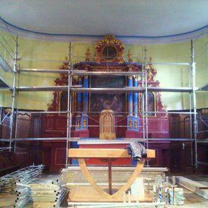 Rénovation des mur de l'Eglise de Gouhenans