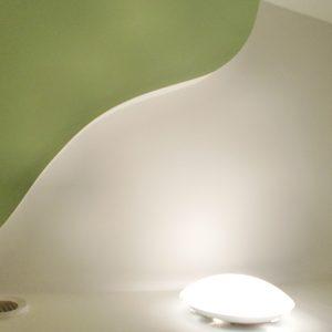 Création d'un décoration vague au plafond chez un particulier