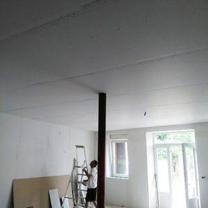 réalisation de l'isolation et du plafond d'un bureau à Citers